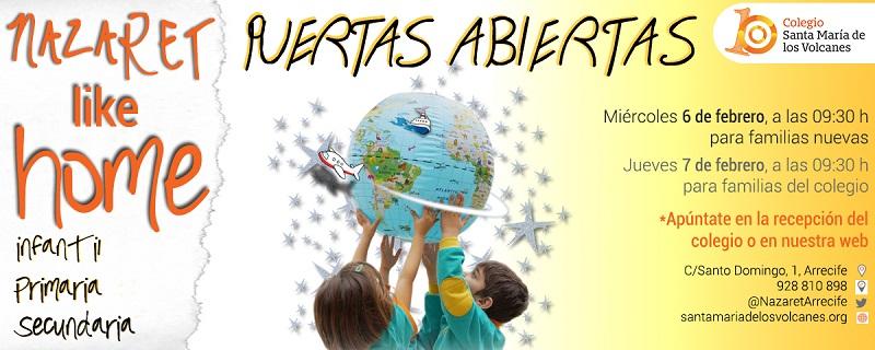 Jornada de Puertas Abiertas y calendario de admisión infantil y primaria 2019/2020