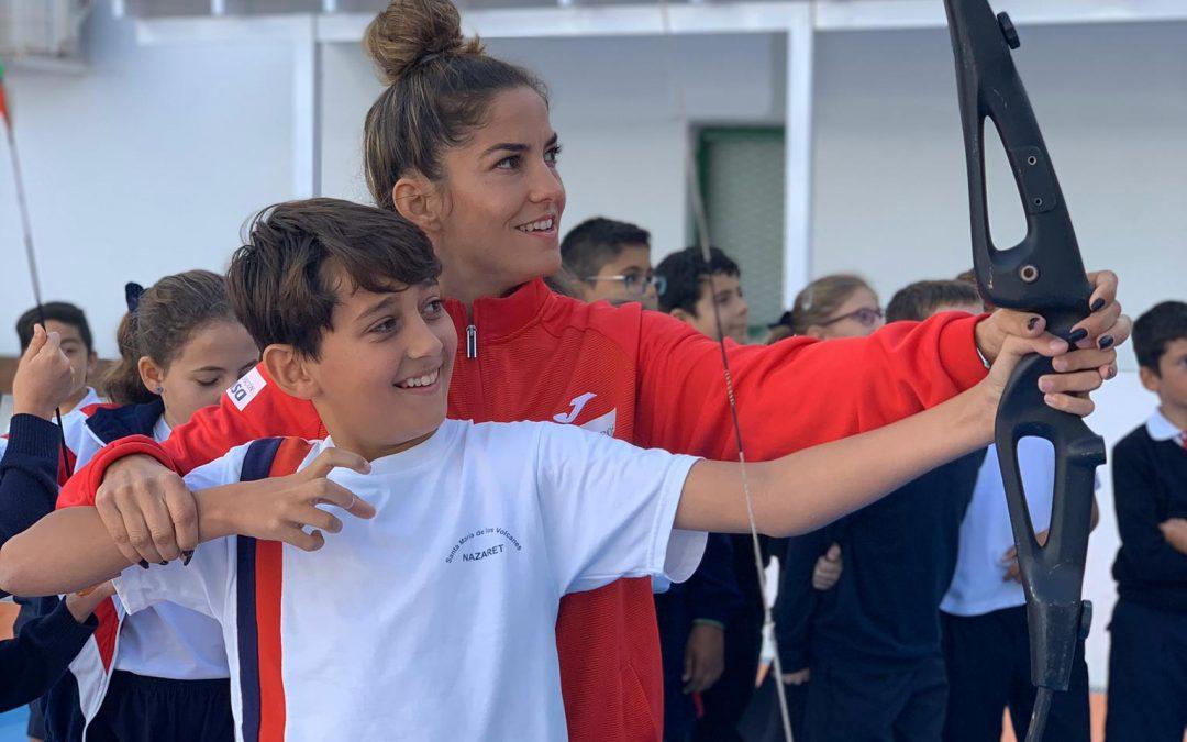 Visita de las deportistas Sonia Lafuente y Yanira Soto a nuestro colegio.